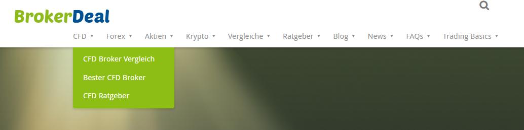 BrokerDeal Seitenaufbau