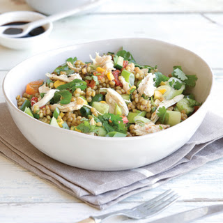 Israeli Couscous Chicken Salad