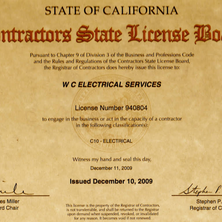 w c electrical services - affordable licensed electrical contractor