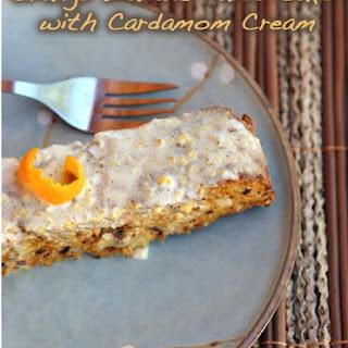 Orange Walnut Cake with Cardamom Cream.