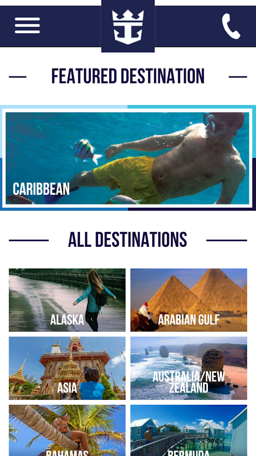 Royal Caribbean International- screenshot