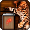 Cat toy: laser point icon