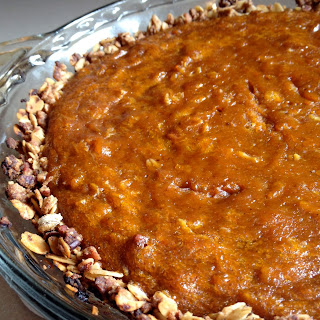 Creamy Coconut Pumpkin Pie with a Spiced Oat Crust