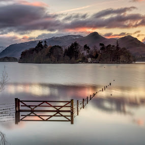 The Gate by Raymond Mcbride - Landscapes Sunsets & Sunrises ( cumbria, keswick, derwent water, the lake district )