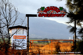 Photo: Entrance to the neighboring oval dirt track at Raceway Park...