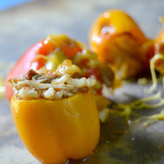 Mini Chicken Stuffed Peppers.