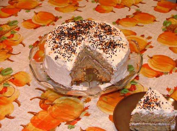 Apple Butter Cake With Spiced Frosting