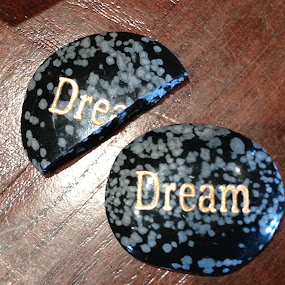 Dreams ... some come true by Eric Eldritch - Typography Words ( carved stone, dream, wish, stone )