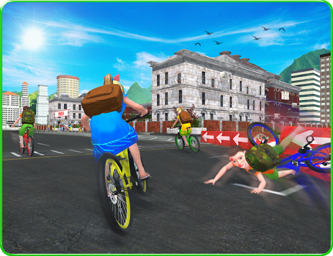 Kids School Time Bicycle Race Android 9