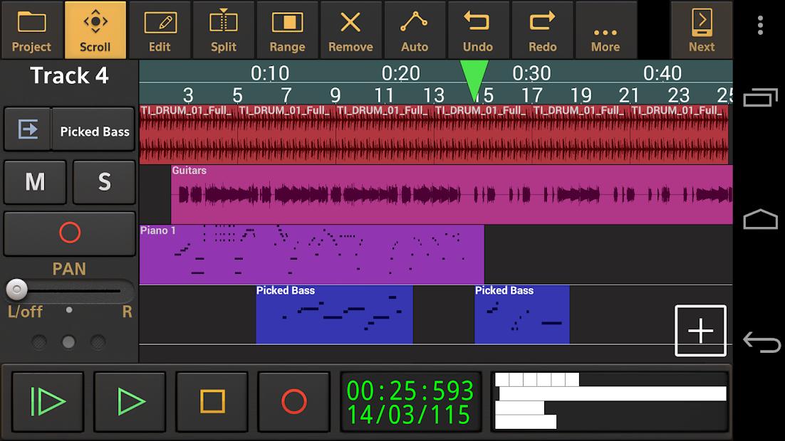 Audio Evolution Mobile Studio TRIAL Android App Screenshot