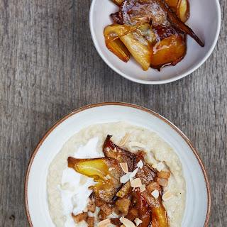 Caramelised Coconut Cinnamon Pears On Porridge