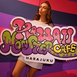 Pamela at the Kawaii Monster Cafe in Harajuku in Harajuku, Tokyo, Japan