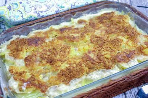 """Potato Artichoke Gratin """"Oh, this is an indulgent holiday side dish recipe......"""