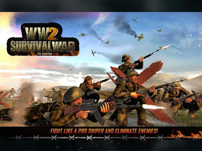 WW2 Survival War Prisoner : FPS Shooting Game Android 8