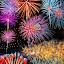 Kaleidoscope by Stephen Botel - Public Holidays July 4th ( sky, reflections, fireworks, lake, bridge, street lights, smoke )