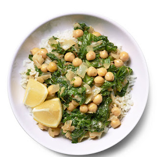 Spiced Chickpeas and Greens.