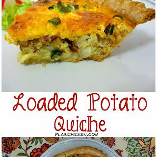 Loaded Potato Quiche.