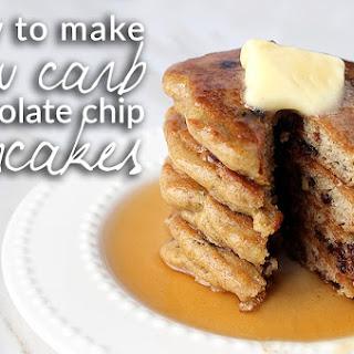 Low Carb Chocolate Chip Pancakes