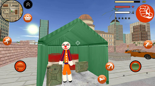 Clown Stickman Rope Hero Gangaster Vegas Crime 1.0 screenshots 3