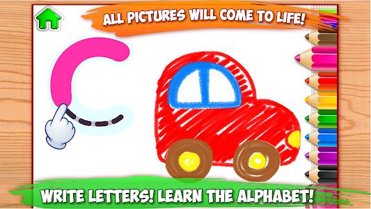 ABC DRAW 🎨 Kids Drawing! Alphabet Games Preschool 이미지[1]