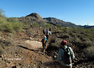 Photo: A 2.5 mi. hike up to Indian Mesa ruins via the Cow Springs Jeep trail. We started from dry Tule Creek at 1600 ft.