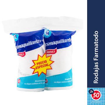 Oferta Pomos Farmatodo   Rodajas Desmaquillantes X2Pq X50Und. Pr.Esp