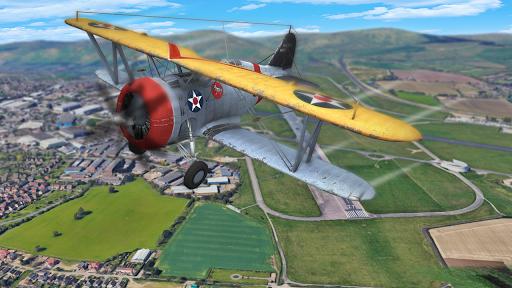 Flight Plane Simulator 3D : Airplane Flying Sim apkpoly screenshots 6