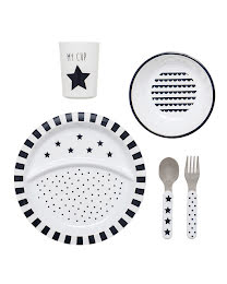 Dinnerware black/white