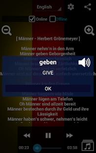 Learn German with Music screenshot