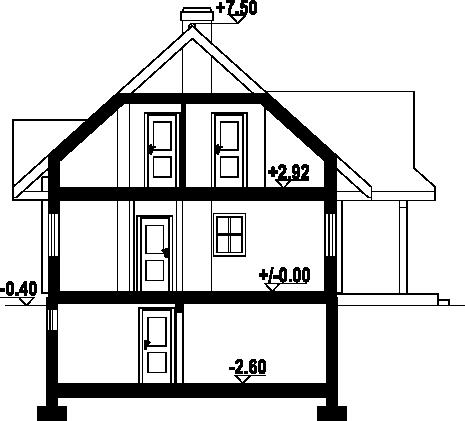 Jodłownik dw - Przekrój