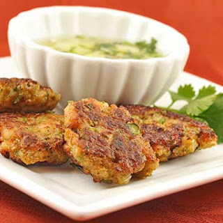 Thai Fish Cakes with Cucumber Dipping Sauce.