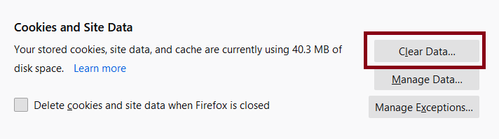 How to Clear Cache Files from Firefox