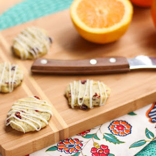 Thyme Orange Cranberry Shortbread Cookies