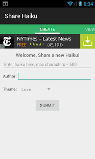 Share Haiku- screenshot thumbnail