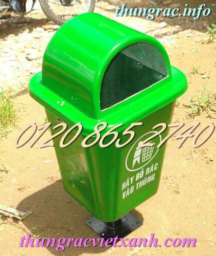 Thùng rác treo 55 lít chân sắt