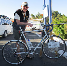 Photo: Jim and his bike have made the Route 66 crossing many times