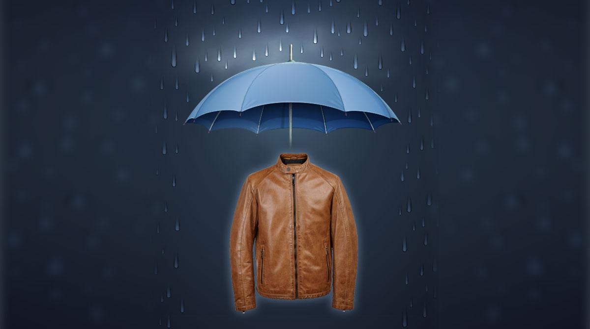 is leather jacket waterproof or water resistant?