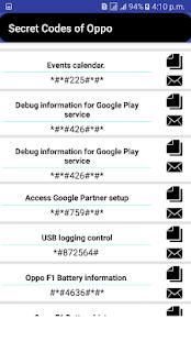 Secret Codes Of Oppo - náhled