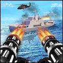 Navy War Shoot 3D - Gunner Warfare Shooter icon
