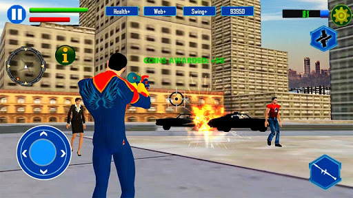 Screenshot for Amazing Rope Man hero: Police Crime City Gangster in United States Play Store