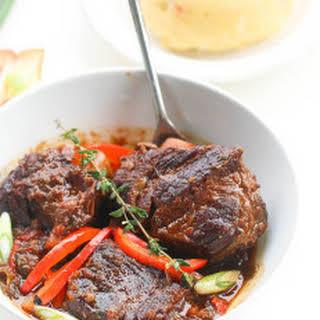 Jamaican Braised Short Ribs Stew.