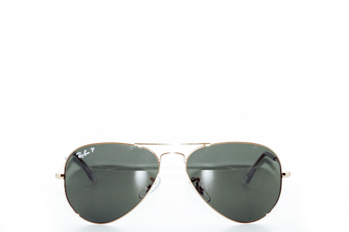 Ray Ban Aviator Gold Green Polarized