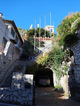 Photo: Steps up the hillside to the Via Crucis walk up Monte Tauro