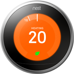 Nest thermostat gen3 front view temp
