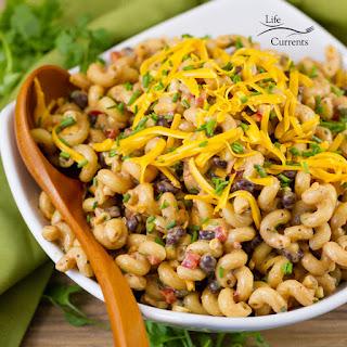 Loaded Southwestern BBQ pasta salad.