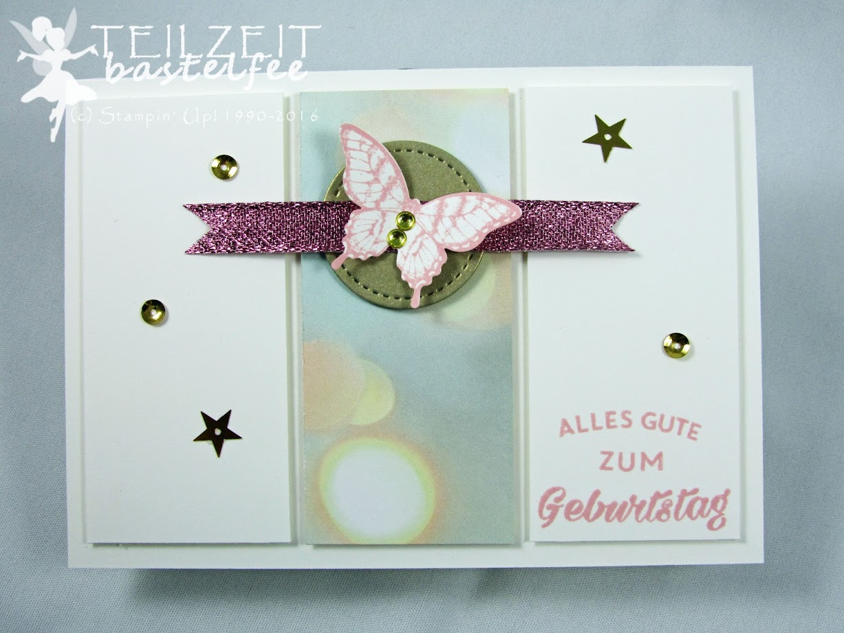 Stampin' Up! – In{k}spire_me #283, Sketch Challenge, Papillon Potpourri, Geburtstagshurra, DP Zum Verlieben, Birthday Bright, DSP Falling in Love, Birthday, Butterfly, Geburtstag