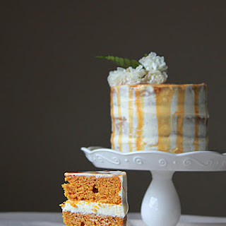 Pumpkin Cake with Dulce de Leche Cream Cheese Frosting