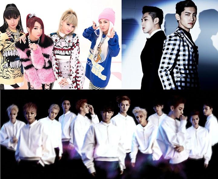 2NE1, EXO and TVXQ included in Billboard's