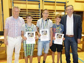 Photo: Sieger beim Kletterwettbewerb (Knaben - 3. und 4. Klassen)