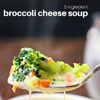 5-Ingredient Broccoli Cheese Soup.